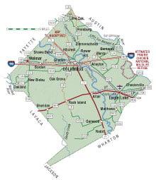 Colorado County Texas Map