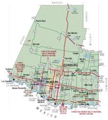 map of Hidalgo Countyhidalgo county