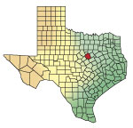 locator map for Bosque County