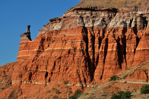 Lighthouse formation in Palo Duro Canyon