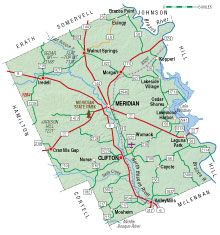 map of Bosque County