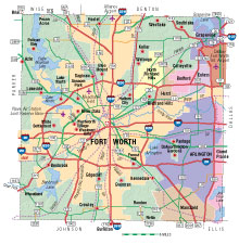 Map Of Texas With Cities And Counties.Tarrant County Texas Almanac