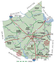 Walker County Texas Map