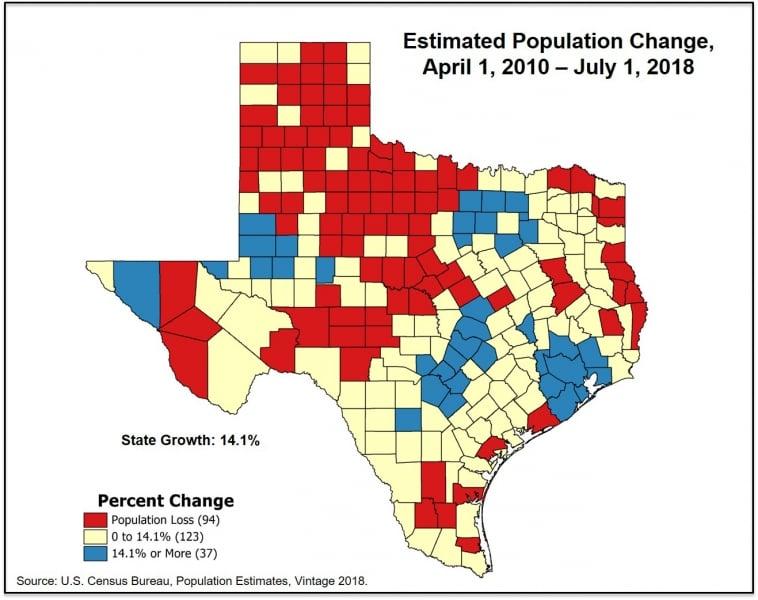 Texas Population: Still Growing | Texas Almanac
